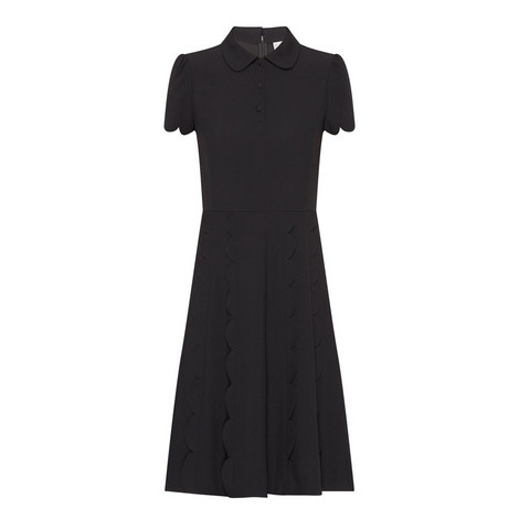 Scalloped Edge Dress, ${color}
