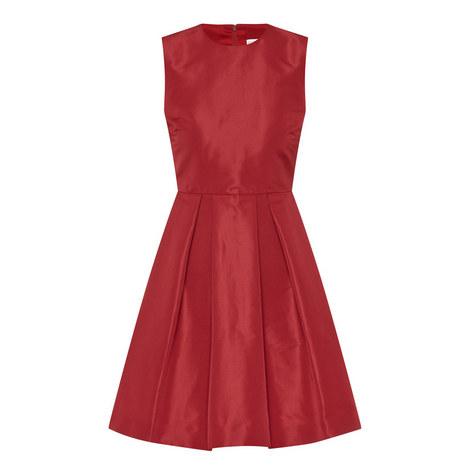 Satin Sleeveless Dress, ${color}