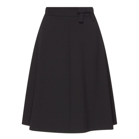 Bow Detail Cady A-Line Skirt, ${color}