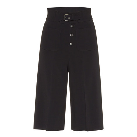 Bermuda High-Waisted Trousers, ${color}