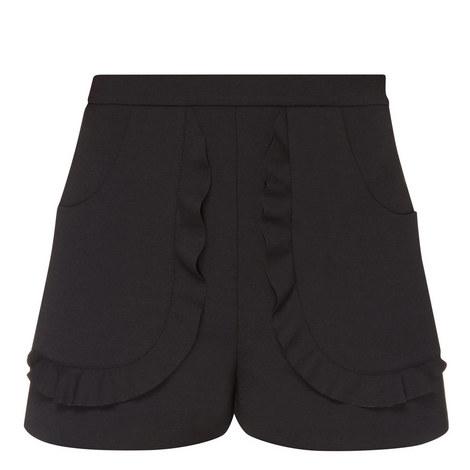 Scallop Trim Shorts, ${color}