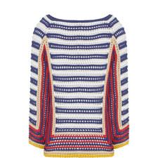 Woven Stripe Sweater