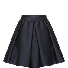 Taffeta Twill Pleated Skirt
