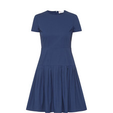 Pleated Drop Waist Dress