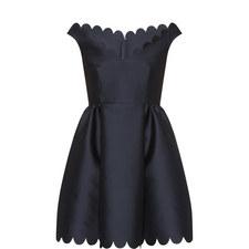 Scallop Hem Dress