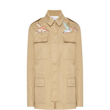 Bird Embroidery Military Jacket