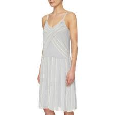 Lace-Trimmed Slip Dress