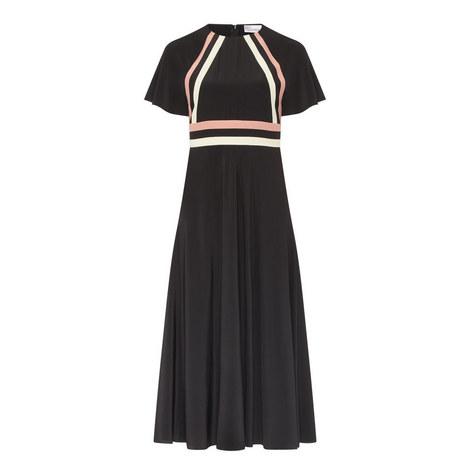 Stripe Detail Midi Dress, ${color}