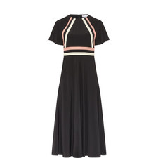 Stripe Detail Midi Dress