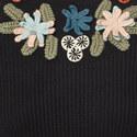Floral Appliqué Sweater, ${color}