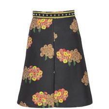 Jacquard Floral Pattern Skirt