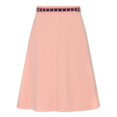 Stud Detail Skirt, ${color}