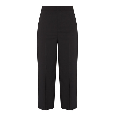 Cropped Relaxed Fit Trousers , ${color}