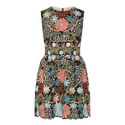 Sleeveless Floral Lacework Dress, ${color}
