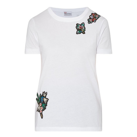 Floral Embroidered T-Shirt, ${color}