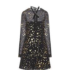 Frill End Star Print Dress