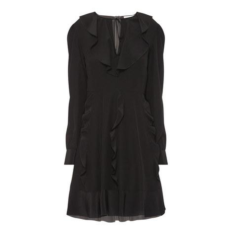 Long Sleeve Frill Dress, ${color}