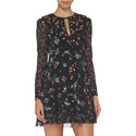 Floral Print Frill Dress, ${color}