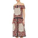 Bandana Print Off-Shoulder Dress, ${color}