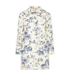 Flower Print Coat