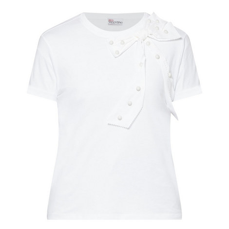Short Sleeve Bow Detail T-Shirt, ${color}