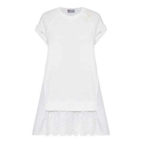 Broderie Anglaise Layered Dress, ${color}