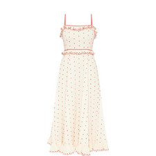Dotted Ruffle Maxi Dress