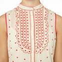 Embroidered Dot Sleeveless Dress, ${color}