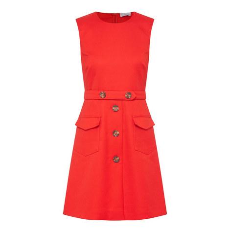 Cady Button-Embellished Shift Dress, ${color}
