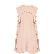 Short-Sleeved Ruffle Dress