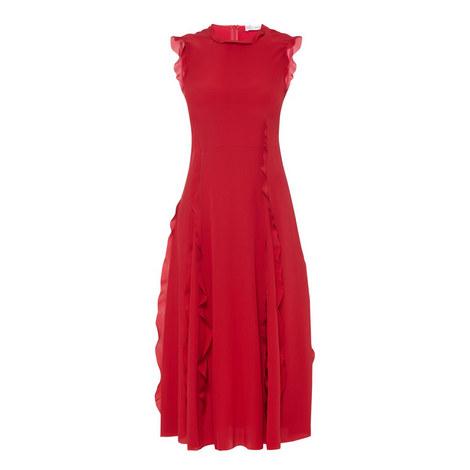 Sleeveless Ruffle Dress , ${color}