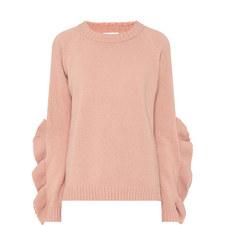 Ruffle Sleeve Detail Sweater