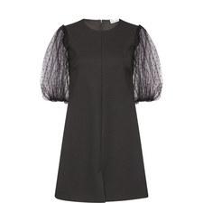 Short Puffed Sleeve Dress