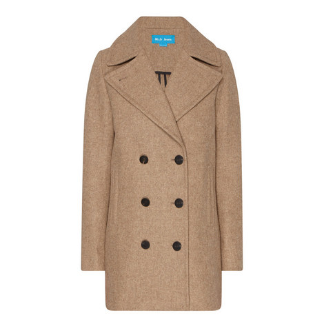 Rosen Double Breasted Peacoat, ${color}