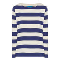 Button Sleeve Striped Top, ${color}