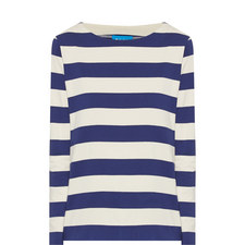 Button Sleeve Striped Top