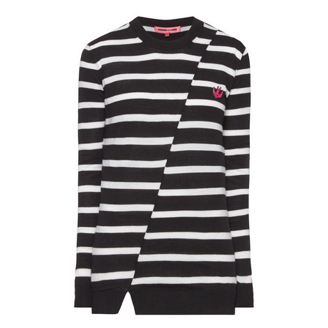 Distorted Stripe Sweater, ${color}
