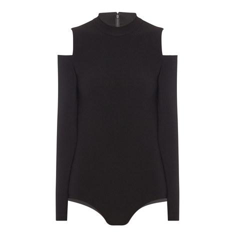 Suzi Cold Shoulder Bodysuit, ${color}