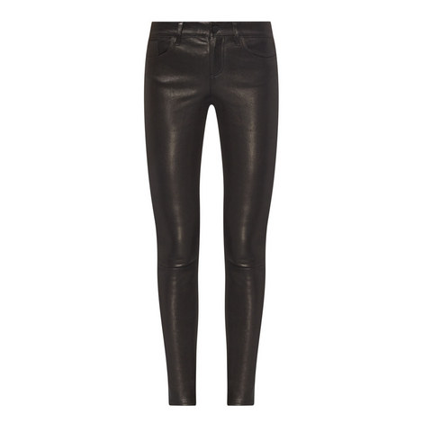 Angie Leather Skinny Jeans, ${color}
