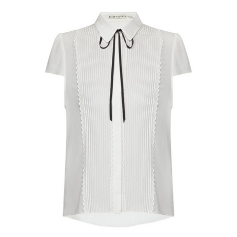 Kelsy Pleated Front Blouse, ${color}