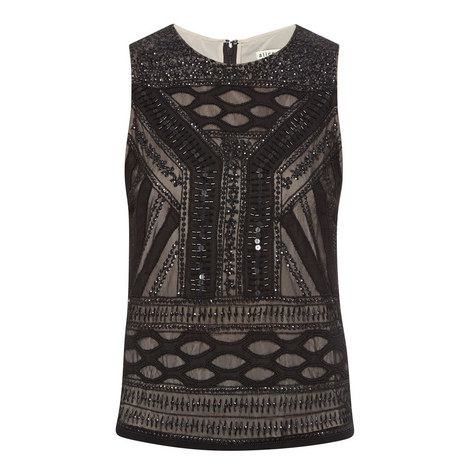 Sharla Embellished Sleeveless Top, ${color}