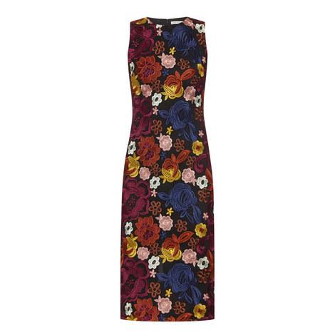Nat Fitted Floral Dress, ${color}