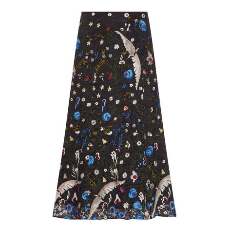 Kiera Floral Embroidered Skirt, ${color}