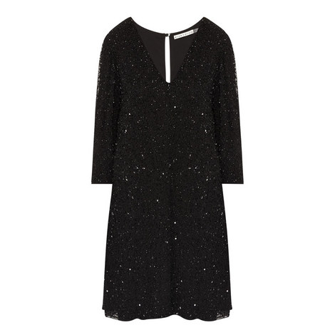 Shary Sequinned Shift Dress, ${color}
