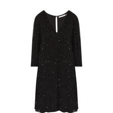 Shary Sequinned Shift Dress
