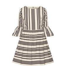Augusta Ruffle Sleeve Dress
