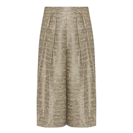 Rocco High-Waisted Brocade Culottes, ${color}