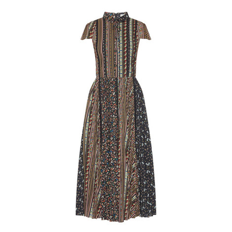 Bale Pleated Floral Dress, ${color}
