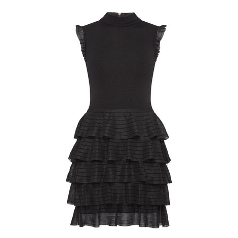 Janice Tiered Ruffle Knitted Dress, ${color}