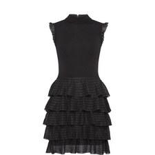 Janice Tiered Ruffle Knitted Dress